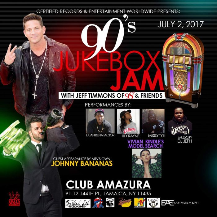 90's Jukebox with Jeff Timmons of 98° & Friends Live in NYC July 2