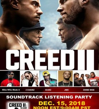 World's First Pay Per View Live Creed II Soundtrack Listening Party, with Executive Producer Mike Will Made-it