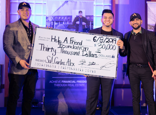 "CARLOS REYES, SAL SHAKIR & ALEX SAENZ LAUNCH ""HELP A FRIEND FOUNDATION"""